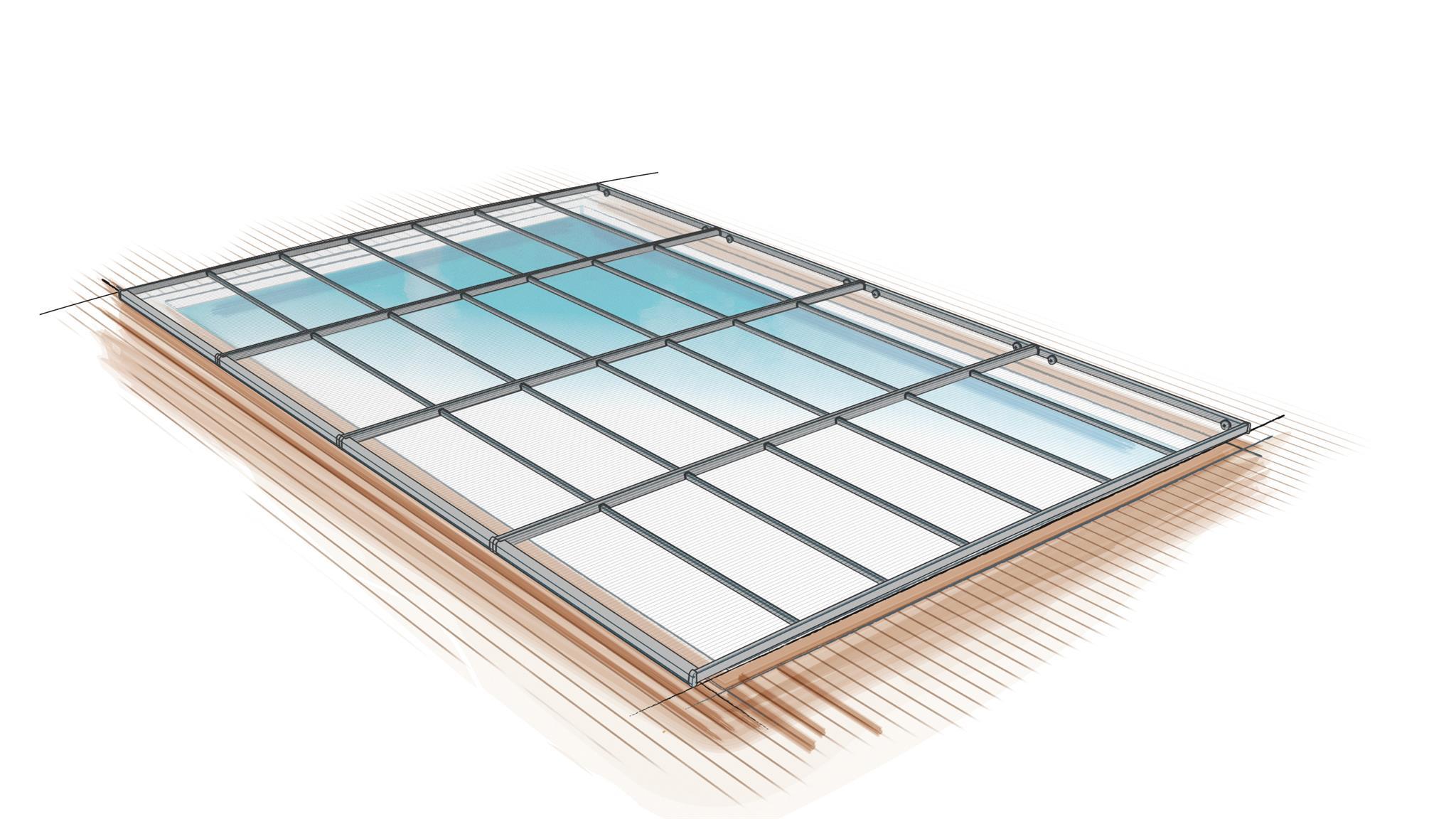 croquis schema abri piscine plat